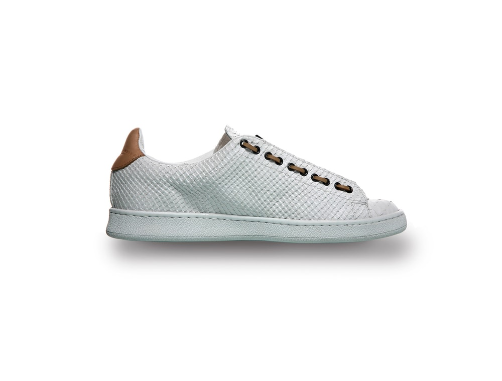 White leather sneakers for men
