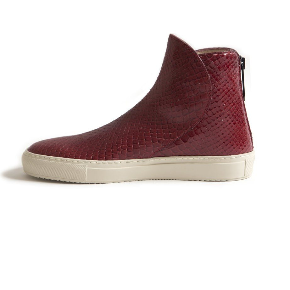 Italian leather red shoes for men