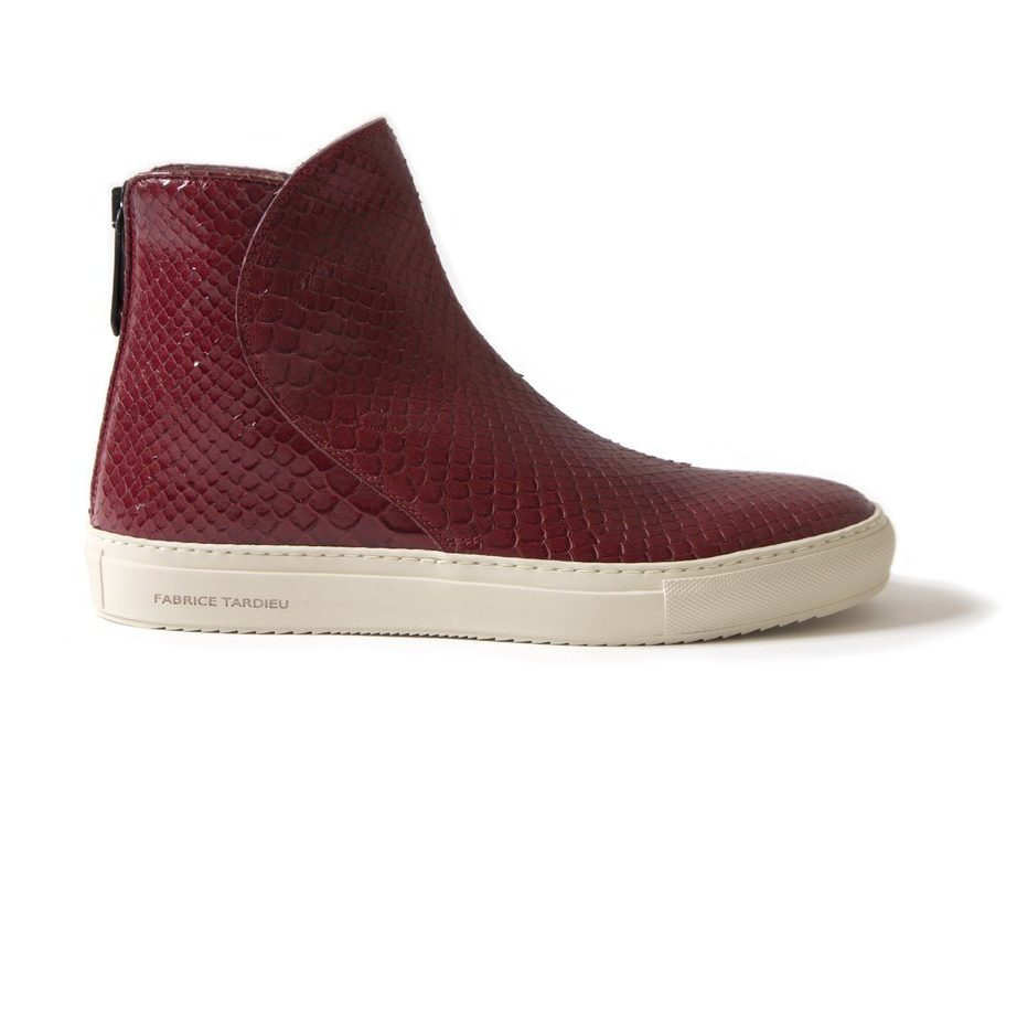 Italian leather boot sneaker