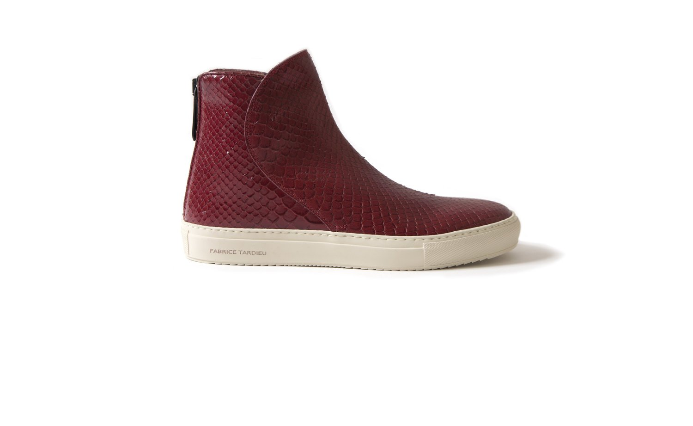 Italian leather boot sneaker