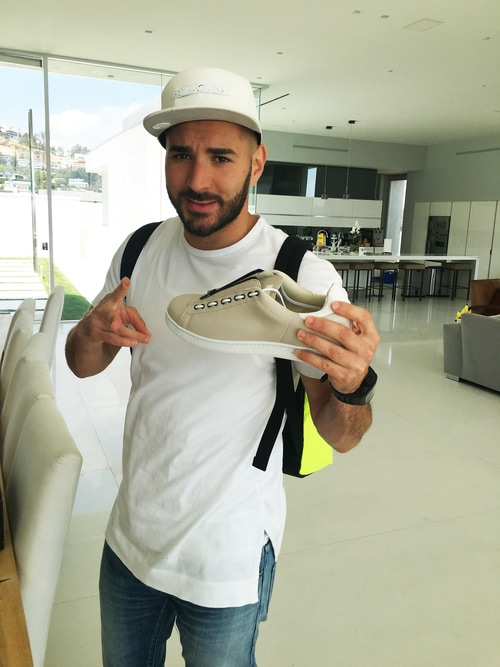 Karim Benzema with fabrice tardieu shoe