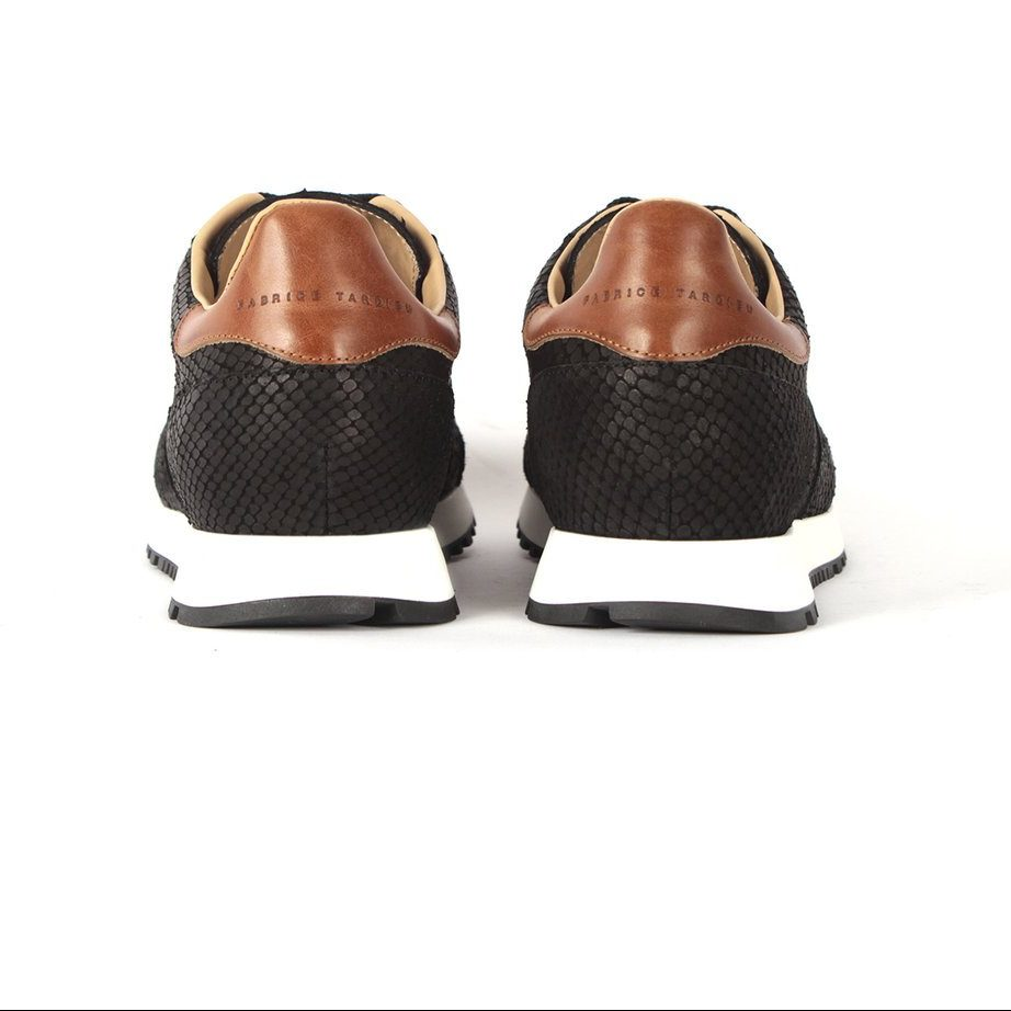 Leather fashion runners for men