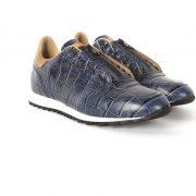 Fashion ocean blue leather shoes for men