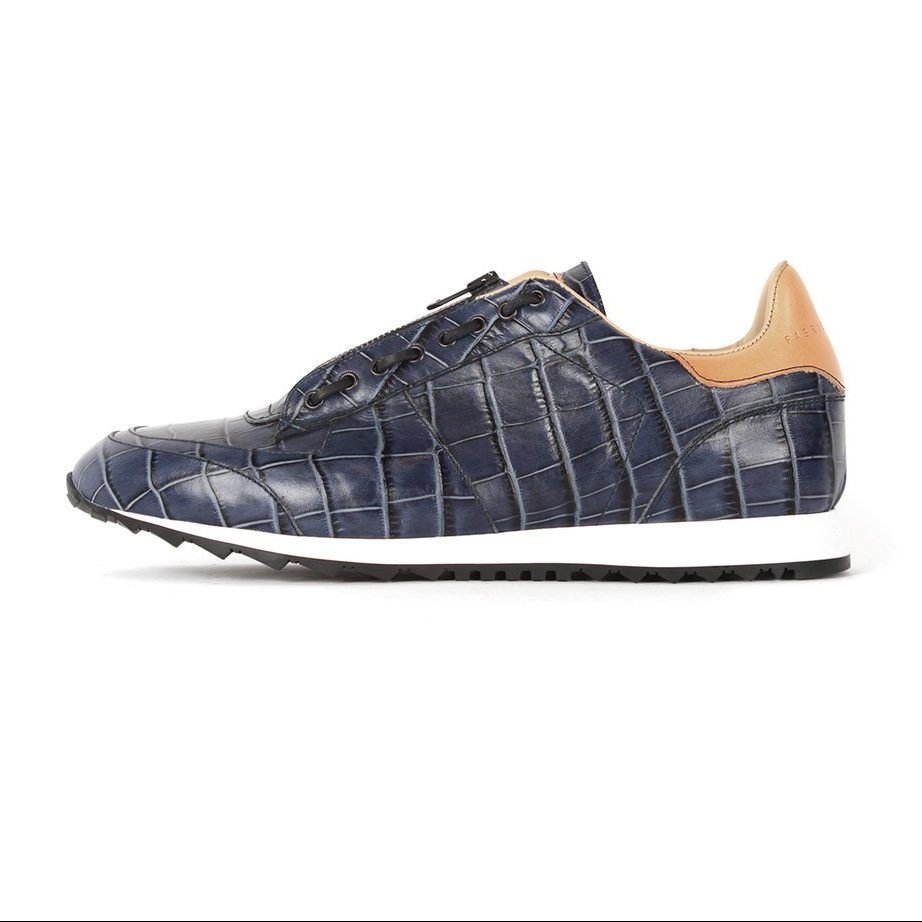 Handcrafted ocean blue fashion shoes for men