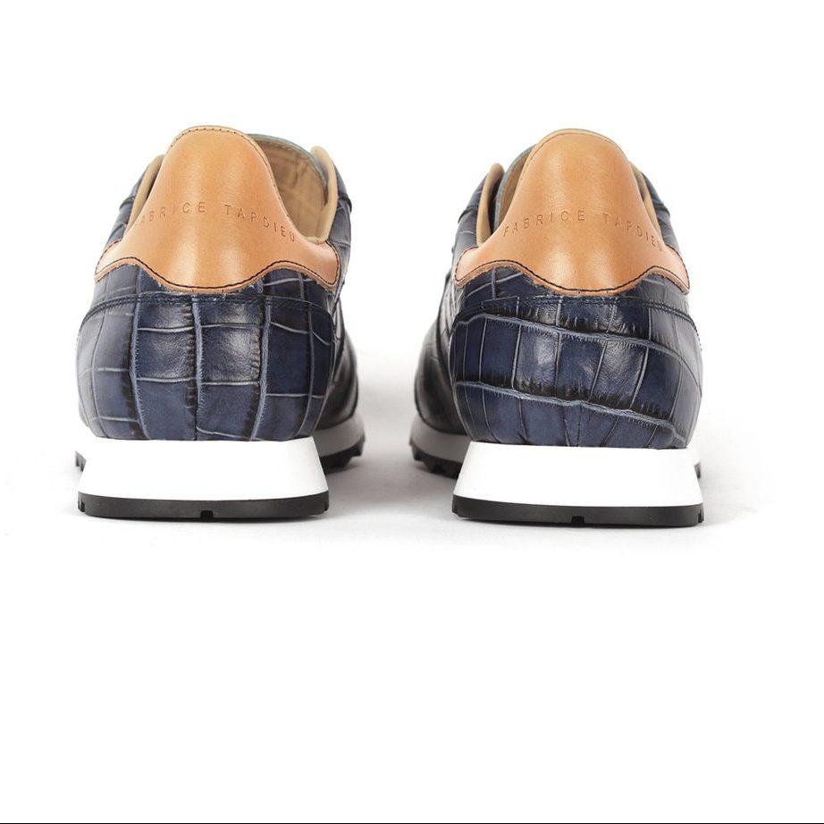 Ocean blue leather shoes