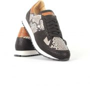 Handcrafted runners with anaconda print for men