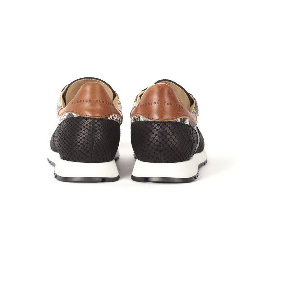 Black & White runner leather shoes